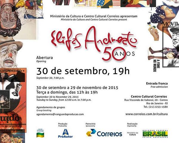Convite Elifas Andreato, 50 anos